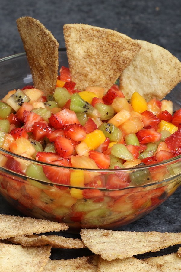Fruit Salsa with Tortilla Chips