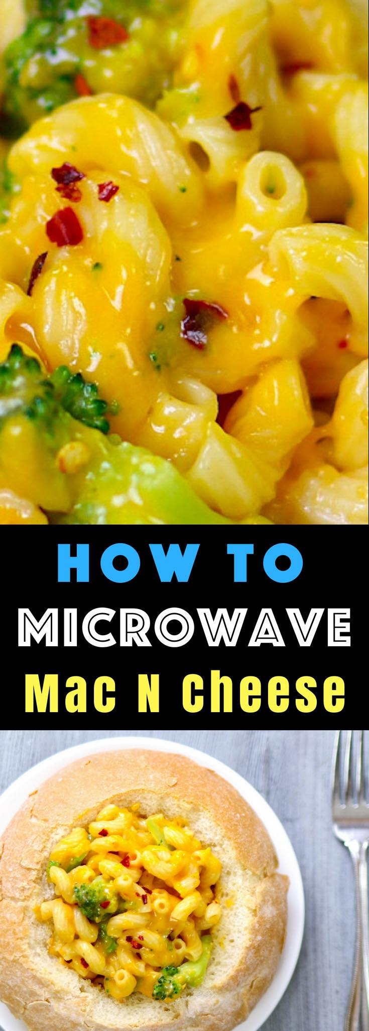 MicrowaveMac and Cheese– rich and creamy mac and cheese cooked in microwave from scratch, ready in 15 minutes. A total game changer! All you need is a few simple ingredients: Macaroni pasta, salt, milk, garlic powder and cheddar cheese. Quick, easy and cooked in one bowl. Say goodbye to the dried macaroni boxes! #MicrowaveMacAndCheese #MacNcheese