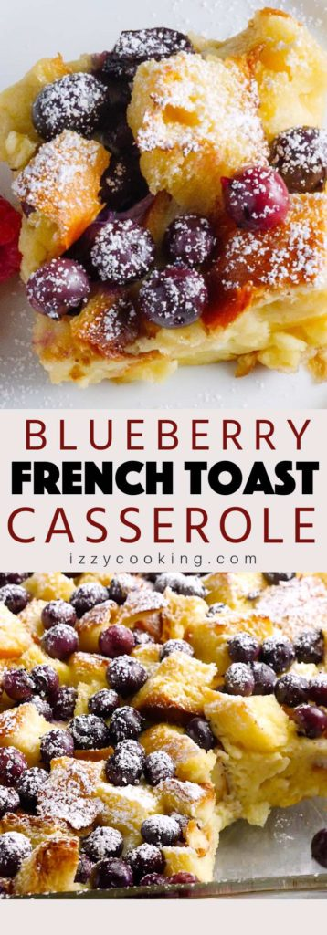 Blueberry French toast casserole is a classic dessert that is easy to make with a few simple ingredients. Just throw everything into a dish and the oven will do its magic!
