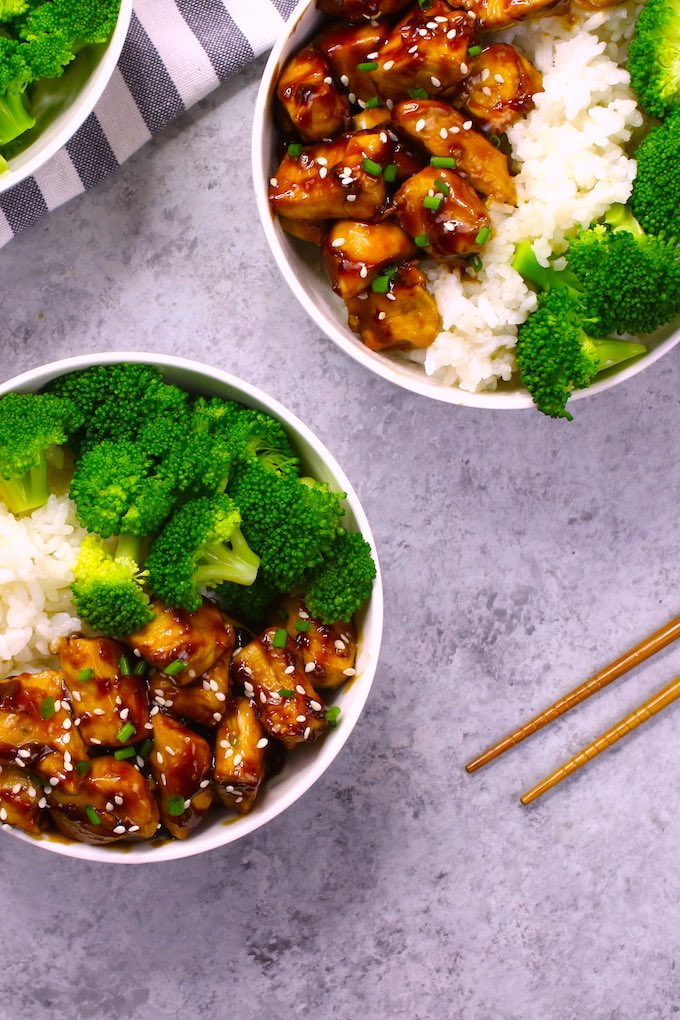 Teriyaki Chicken and Rice takes about 15 minutes to make with homemade teriyaki chicken sauce! Perfect for a quick weeknight dinner!