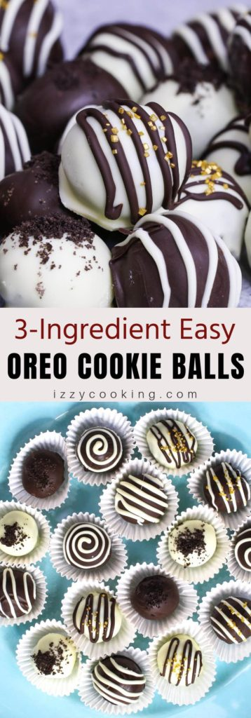 Oreo Cookie Balls are a 3-ingredient no-bake treat made with crushed oreo cookies, cream cheese and chocolate.  It's so easy to make and looks like chocolate truffles.