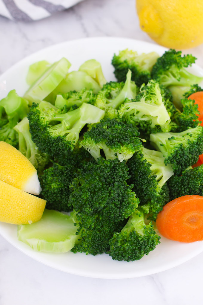 Learn how to steam broccoli in the microwave so that it comes out perfect every time – and only takes less than 5 minutes.