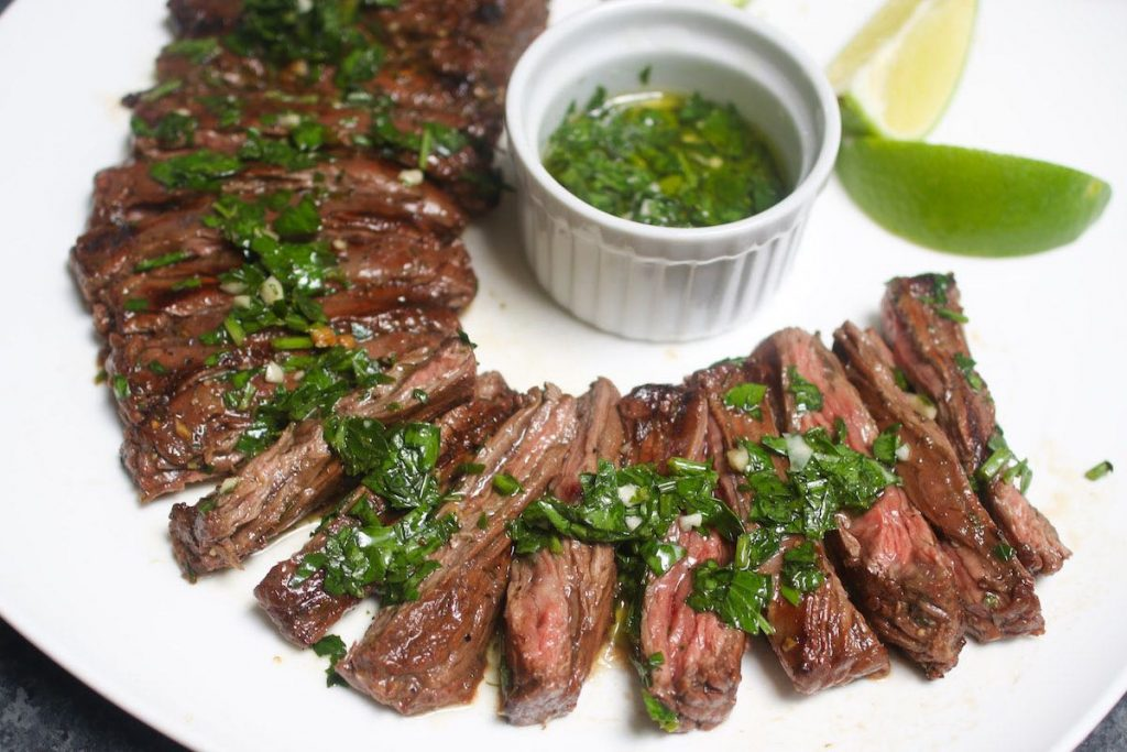 Sous Vide is the best way to cook lean and tough skirt steak. The steak is precisely cooked to the temperature you set with your desired doneness! This Sous Vide Skirt Steak is super tender, flavorful and evenly cooked edge to edge.