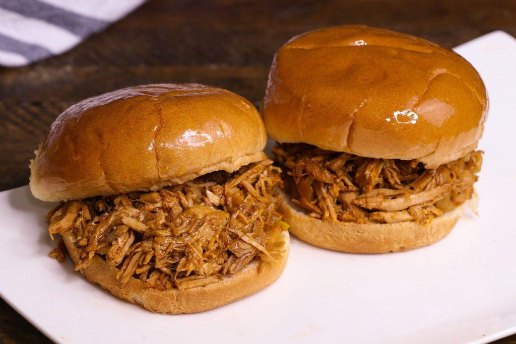 Shredded Pork Shoulder served on sandwiches