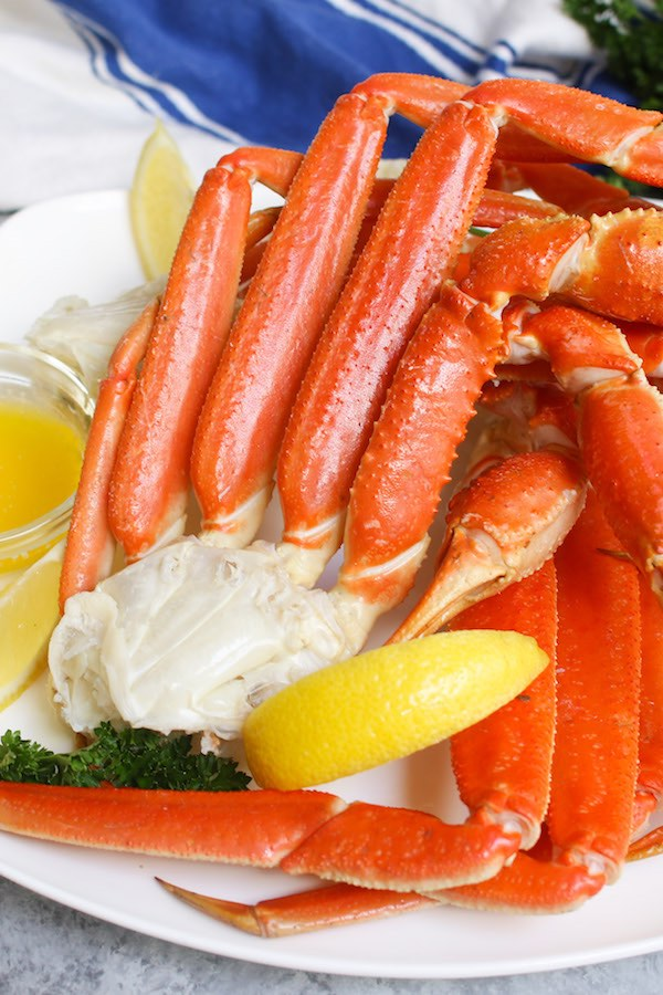 Close up of snow crab legs