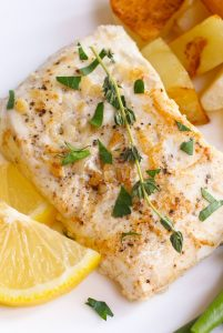 Sous Vide Halibut – tender and buttery halibut that's full of delicious garlic butter flavor! The sous vide method cooks it to the precise temperature you set, and then finish with a quick searing to get the halibut beautifully browned!