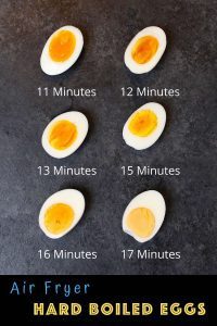 These Air Fryer Hard Boiled Eggs are cooked to perfection EVERY TIME! It's the best way to cook hard boiled eggs and I'll share my favorite tips with you and take all of the guesswork out. #AirFryerHardBoiledEggs