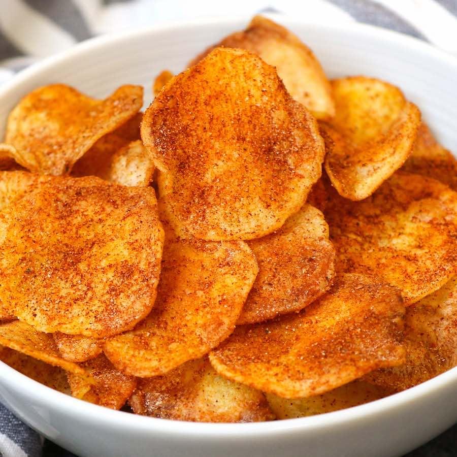 BBQ flavoured air fryer potato chips.