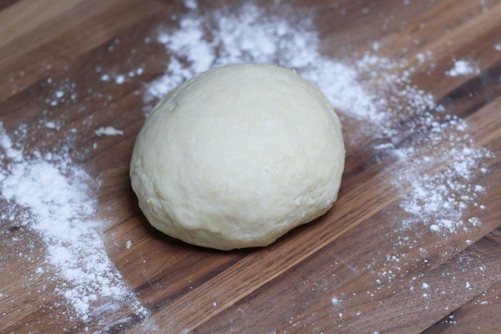 Making the tortilla dough.