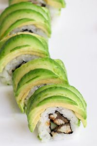 This Caterpillar Roll recipe is made with delicious unagi and crunchy cucumber rolled in seaweed sheet and sushi rice, with an avocado topping. You can customize the roll with other delicious fillings. It's so easy to make and I'll share with you the secrets on how to make an avocado wrapper! #CaterpillarRoll #CaterpillarSushiRoll #CaterpillarMakiRoll