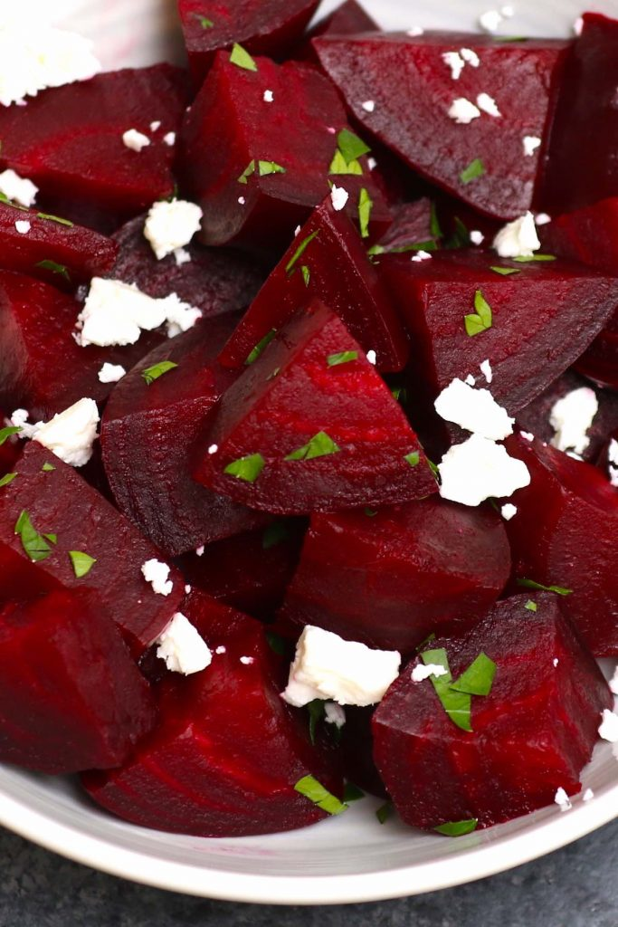 Sous Vide Beets are the best way to enjoy this sweet, earthy, and healthy root vegetable without losing texture and nutrients from boiling them. Made with a few simple ingredients, this recipe requires no peeling and takes minutes to prepare, then the sous vide machine will do the rest of the work! #SousVideBeets