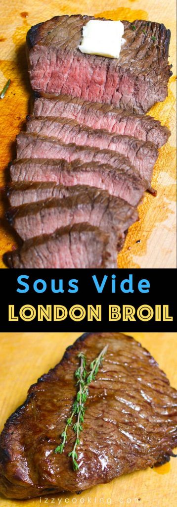 Sous Vide London Broil is the best way to cook the lean but budget-friendly top round steak, turning it to a tender and flavorful dinner! Marinated with balsamic and honey based sauce, and sous vide cooked to juicy perfection by controlling the temperature precisely, then finished in the skillet for a beautiful brown crust! #SousVideLondonBroil #SousVideTopRound