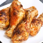 Sous Vide Chicken Drumsticks are the easiest way to make juicy and tender chicken that's full of flavor. Only 3 steps: season, sous vide, and sear! These chicken legs are seasoned with a simple seasoning, and then sous vide cooked to perfection. The skin crisps up when seared in the end, making the best chicken drumsticks ever!