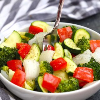 One of our favorite sous vide vegetable recipes! This sous vide mixed vegetable recipe is a healthy and flavorful side dish!
