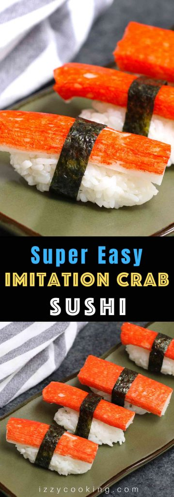 Kanikama Sushi Roll is made with imitation crab meat, sushi rice and nori seaweed sheet. It's so easy to make and I'll share with you how to make perfect kanikama nigiri sushi.