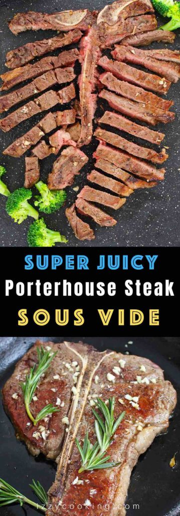 Why go to a steakhouse when you can make the most perfect porterhouse right at home? Sous Vide Porterhouse Steak is a no-fail recipe that's really easy to make. It's super tender, juicy and full of flavor! Once tried, you'll never go back!#SousVidePorterhouse #SousVidePorterhouseSteak #SousVideSteak