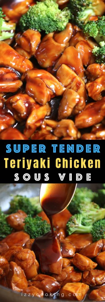 This Sous Vide Teriyaki Chicken recipe makes super juicy and tender chicken that's coated with an easy and delicious teriyaki sauce! The chicken is sous vide cooked in a warm water bath at a precise temperature and then tossed in the sticky, sweet and savory sauce, better than your favorite Chinese take-out! #SousVideTeriyakiChickenBreast #SousVideChicken #SousVideChickenBreast