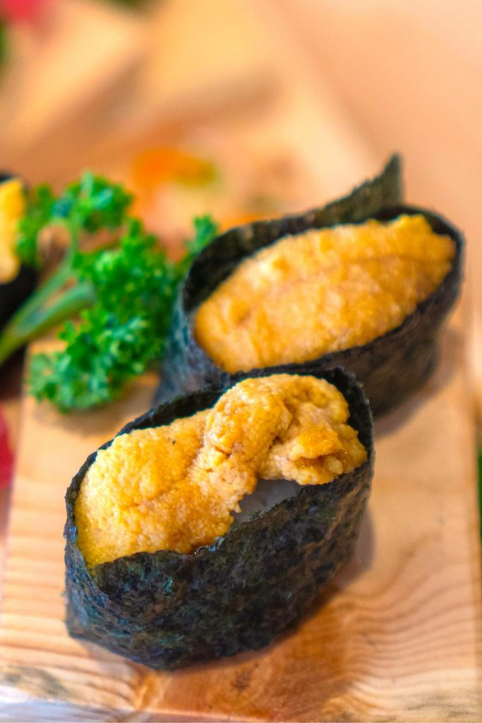 Uni is the Japanese word for the edible part of the sea urchin and often used in nigiri sushi, sashimi, or served with salad and pasta. Uni Sushi is a stable in many Japanese restaurants. #uniSushi #SeaUrchinSushi #UniSashimi #WhatIsUni