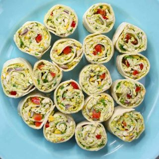 One of the best ways to use canned chicken, these delicious chicken salad roll-ups take less than 15 minutes to make and are loaded with protein and veggies.