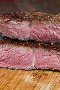 Once you have learned how to sous vide frozen steak, you'll be amazed at how convenient and easy to cook or meal prep a delicious weeknight beef steak dinner! Cooking frozen steak is one of the best features of a sous vide machine. It's perfectly tender, juicy and full of flavor. You'll never take the time to thaw your steak again! #SousVideFrozenSteak