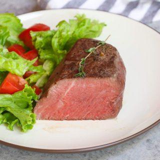 Sous vide steak is perfectly tender, juicy, and full of flavor. This recipe works well with most tender cuts like filet mignon (tenderloin steak), ribeye, sirloin, New York strip, porterhouse, or T-bone steak.