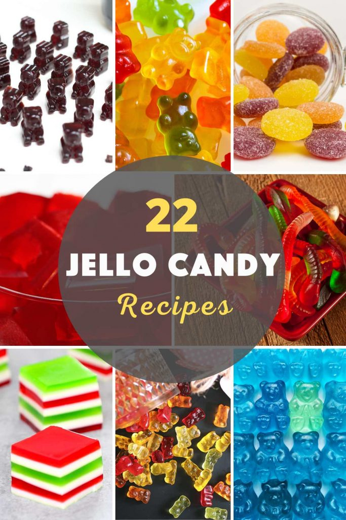 The best Jello Candy recipes all in one place! Here are 22 easy and delicious jelly candy recipes from Jello Gummy Bear to Fruity Jelly Candy. These ideas include options for snacks, dessert, kids-friendly candies, and alcohol-infused jello shots. I'm sure you'll find your favorite! #JellloCandy #JelloCandyRecipe #JellyCandy