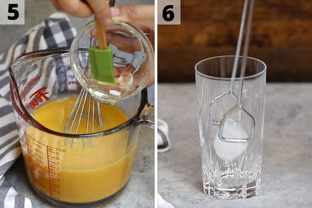 Golden Ginger Drink Recipe: step 5 and 6 photos.