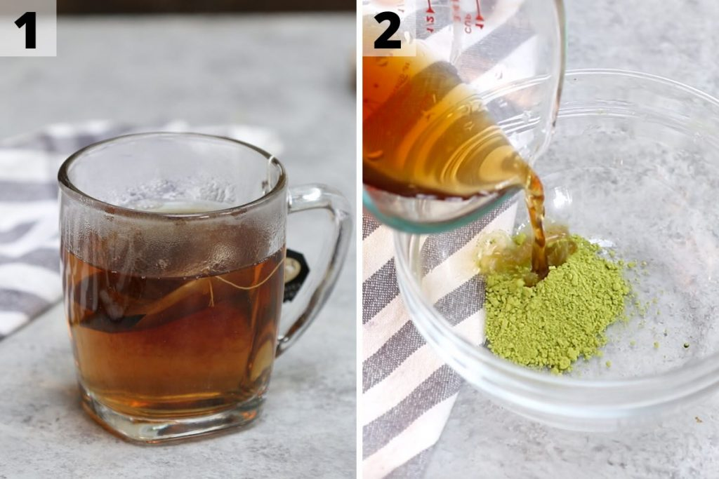 Green Drink Recipe: Step 1 and 2 photos.