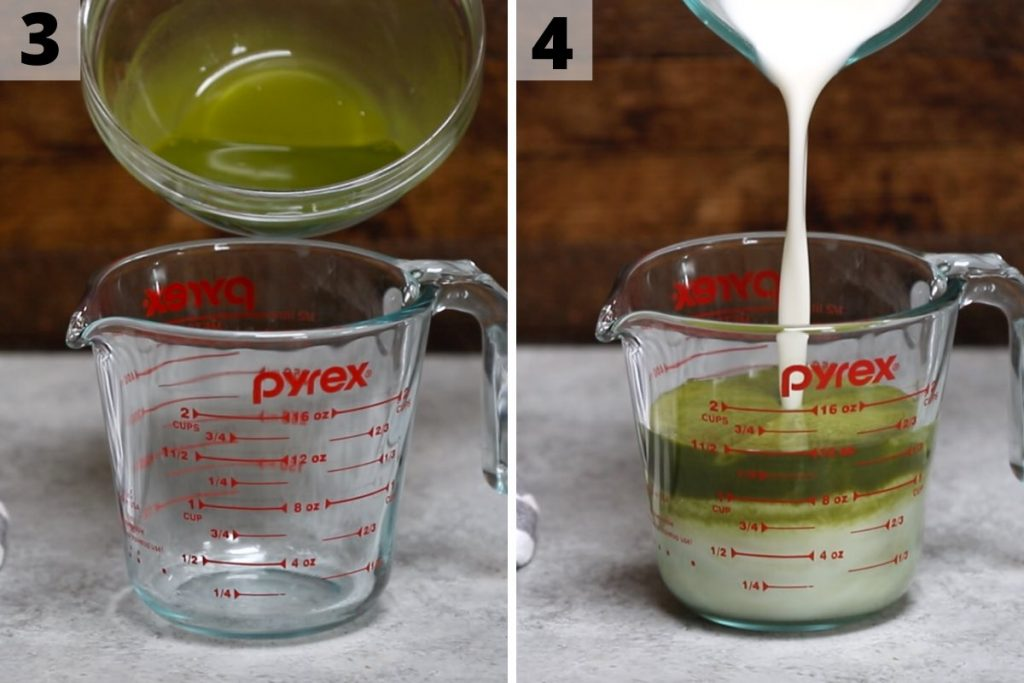 Green Drink Recipe: Step 3 and 4 photos.