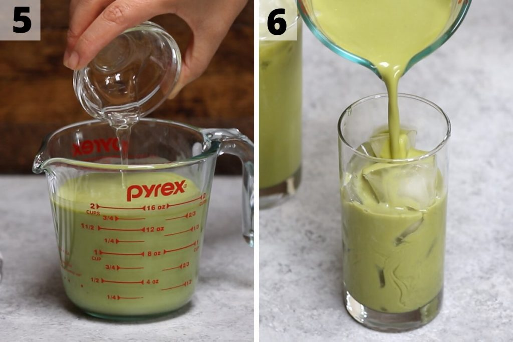 Green Drink Recipe: Step 5 and 6 photos.
