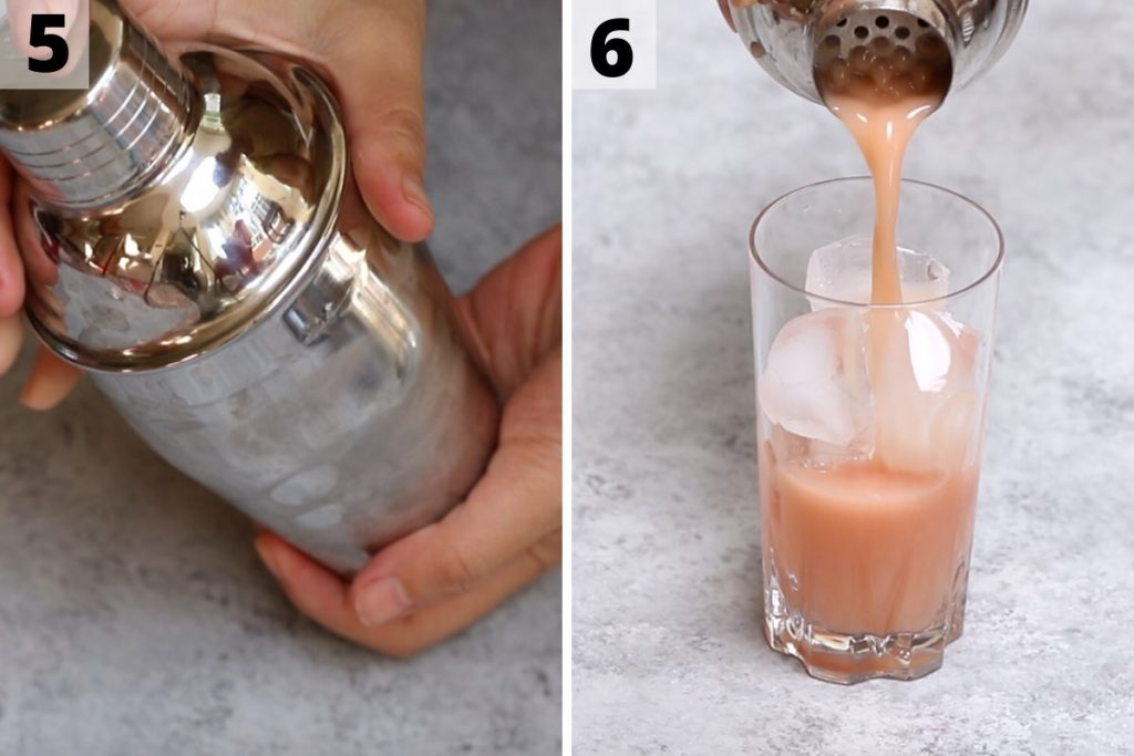 Iced Guava passionfruit drink recipe: step 5 and 6 photos.