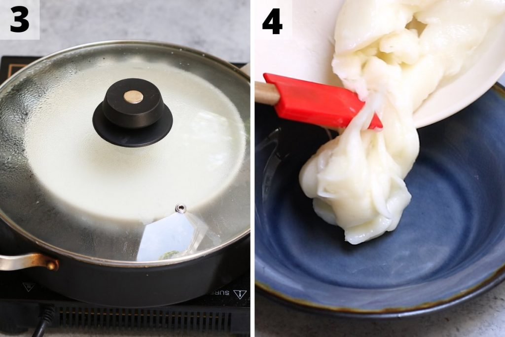 Mango Mochi recipe: step 3 and 4 photos.