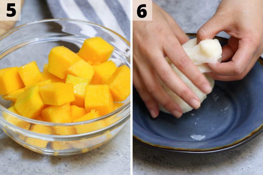 Mango Mochi recipe: step 5 and 6 photos.