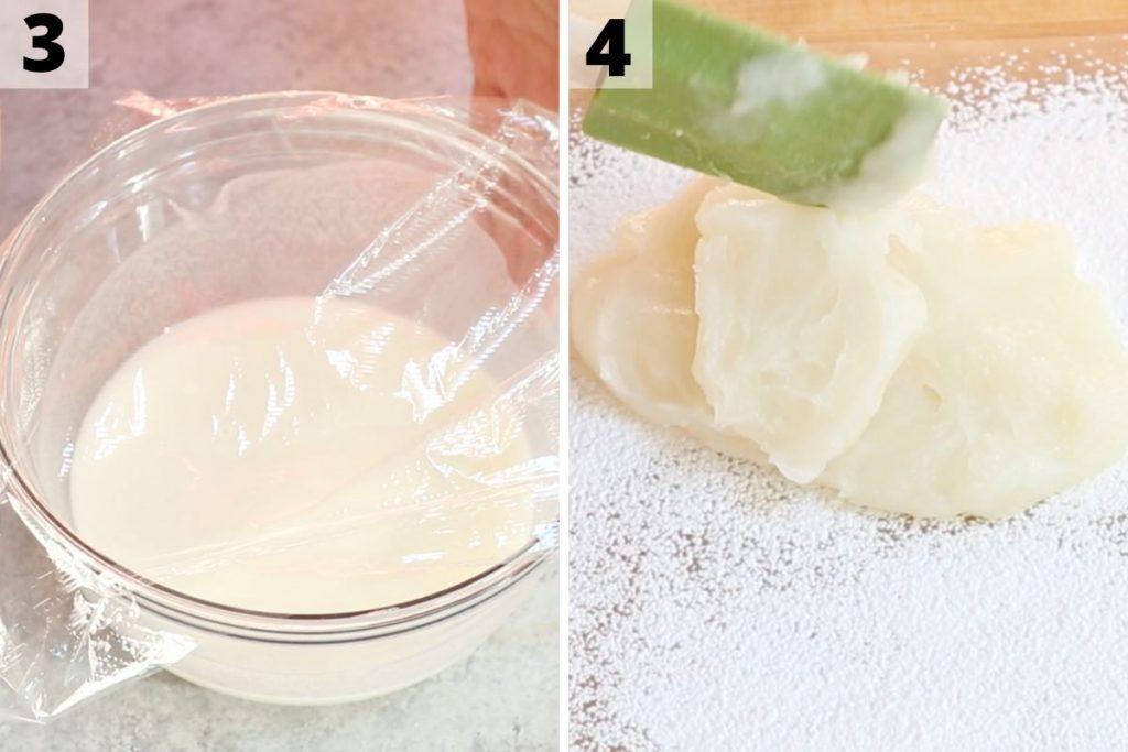 Mochi Ice Cream recipe: step 3 and 4 photos.