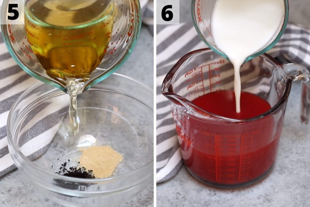 Pink Drink recipe: step 5 and 6 photos.