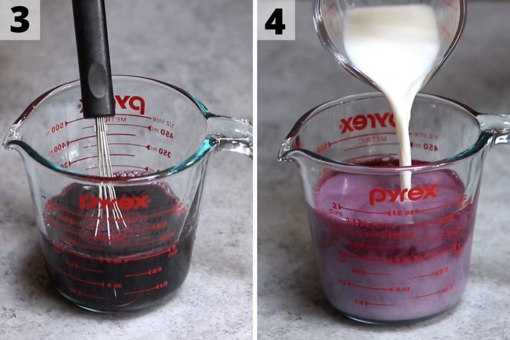 How to make purple drink: step 3 and 4 photos.
