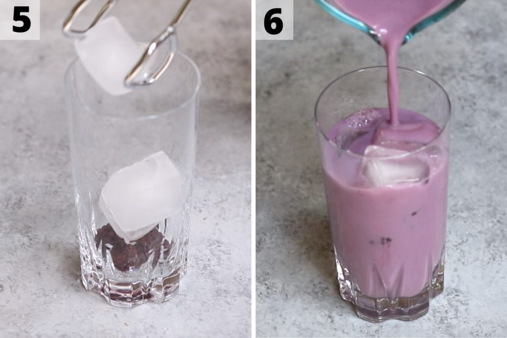 How to make purple drink: step 5 and 6 photos.