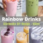 The internet has been obsessed with Starbucks' Rainbow Drinks. The colorful rainbow-themed drinks have become must-have beverages in the summer. You'll learn everything about these rainbow drinks, how to order them from the secret menu, and how to make copycat recipes at home! #StarbucksRainbowDrink