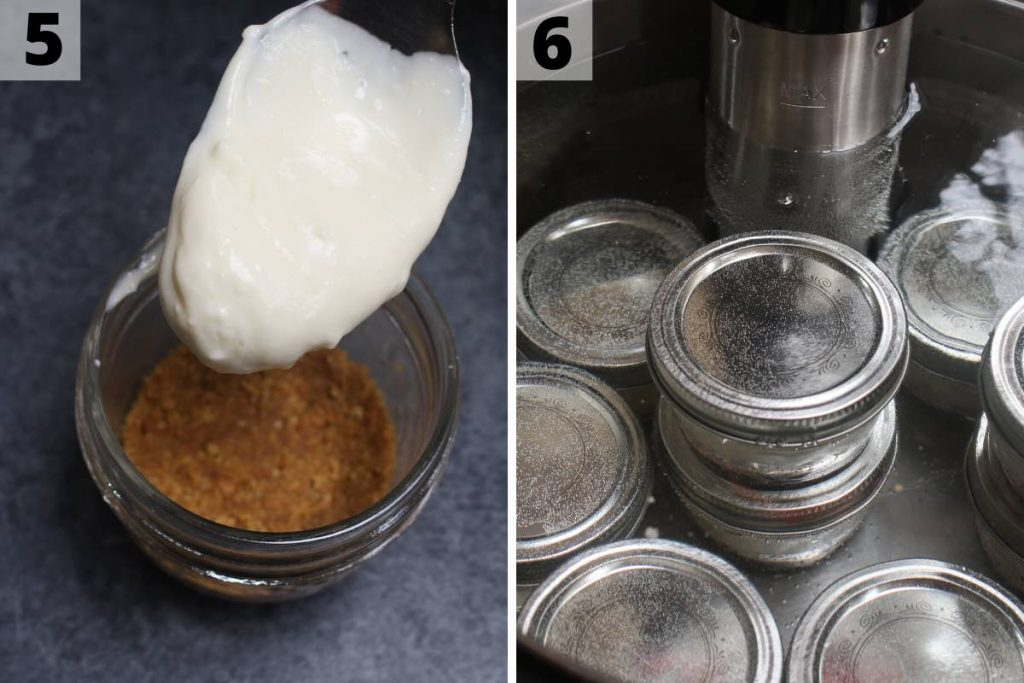 Sous Vide Cheesecake recipe: step 5 and 6 photos.