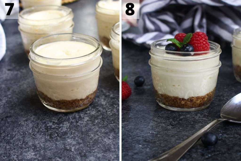 Sous vide cheesecake recipe: step 7 and 8 photos.