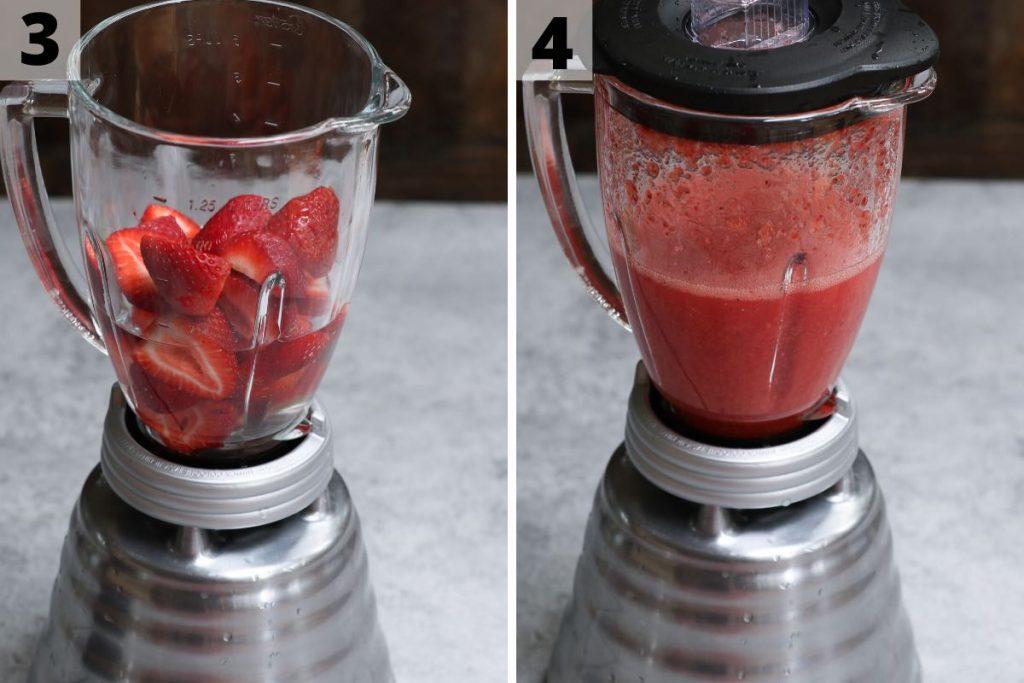 Strawberry acai refresher: step 3 and 4 photos.