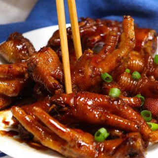 These braised Chicken Feet are cooked long and slow in a rich sauce – so tender and flavorful! This healthy recipe rivals what you would find in the best Chinese Dim Sum restaurant. The best part? No deep-frying required!