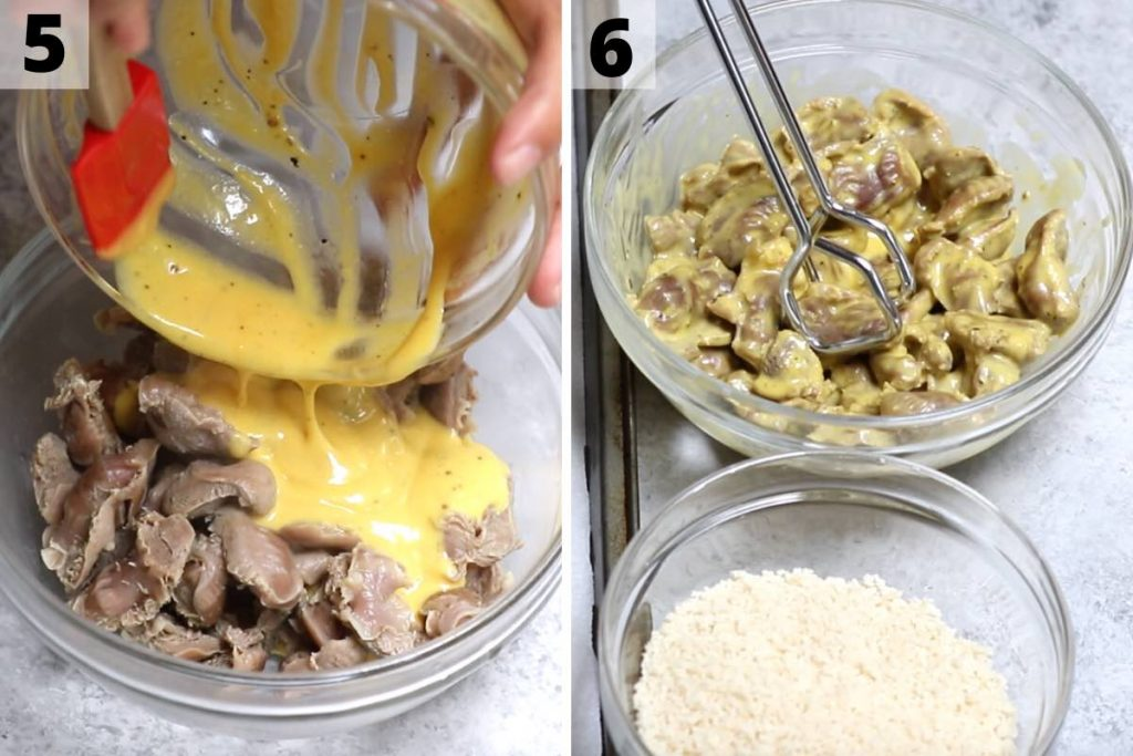 Chicken gizzards recipe: step 5 and 6 photos.