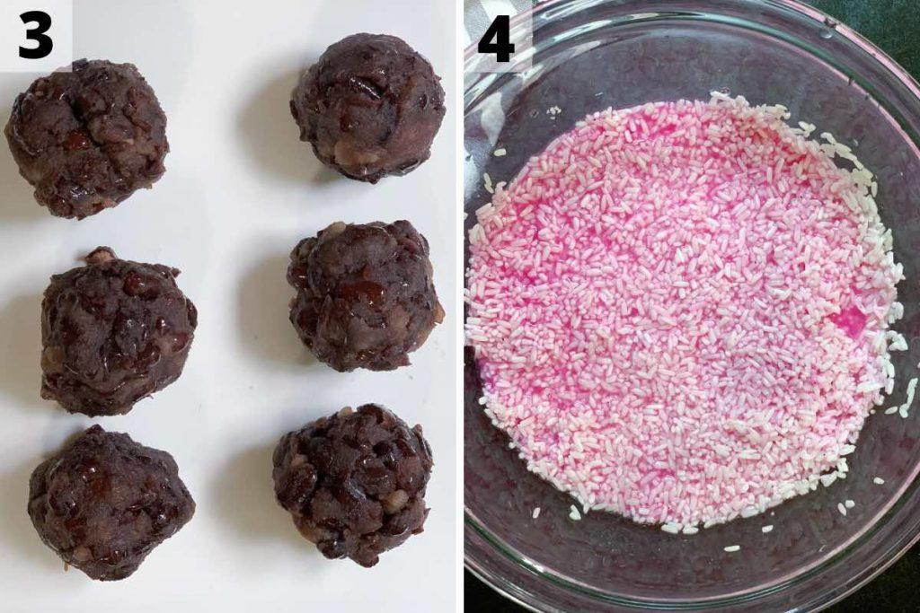 Sakura Mochi recipe: step 3 and 4 photos.