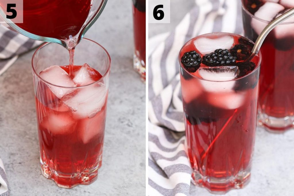 Very berry hibiscus recipe: step 5 and 6 photos.