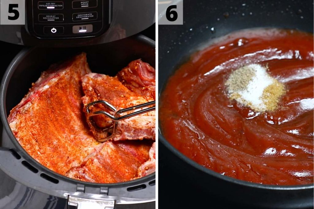 Air Fryer Ribs recipe: step 5 and 6 photos.