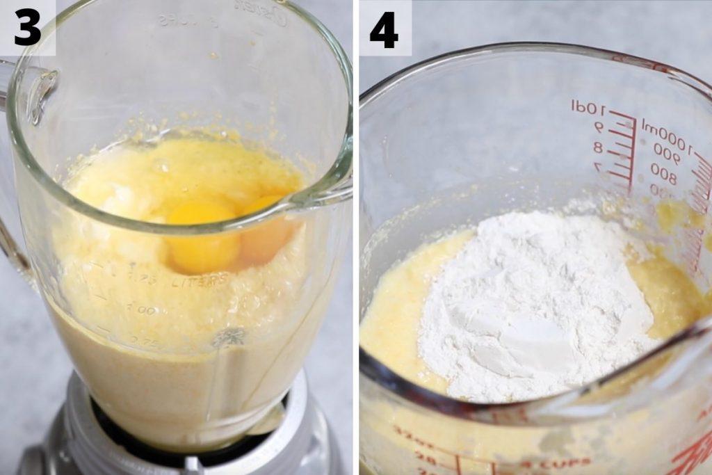 Cachapas recipe: step 3 and 4 photos.