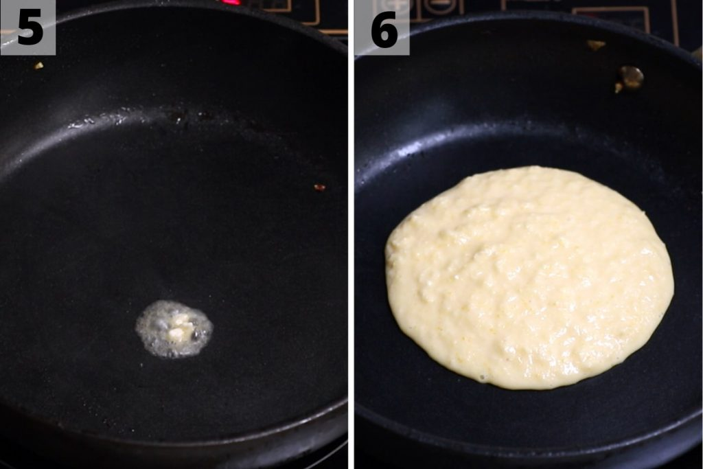 Cachapas recipe: step 5 and 6 photos.