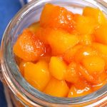 Looking for a quick and easy peach dessert? Try Peach Compote! This recipe is made with fresh (or frozen) peaches, sugar, and lemon juice, ready in as little as 15 minutes. Serve this homemade peach sauce on French toast, cake, ice cream, pancakes, or anything else that could use some fruity flavor! #PeachCompote