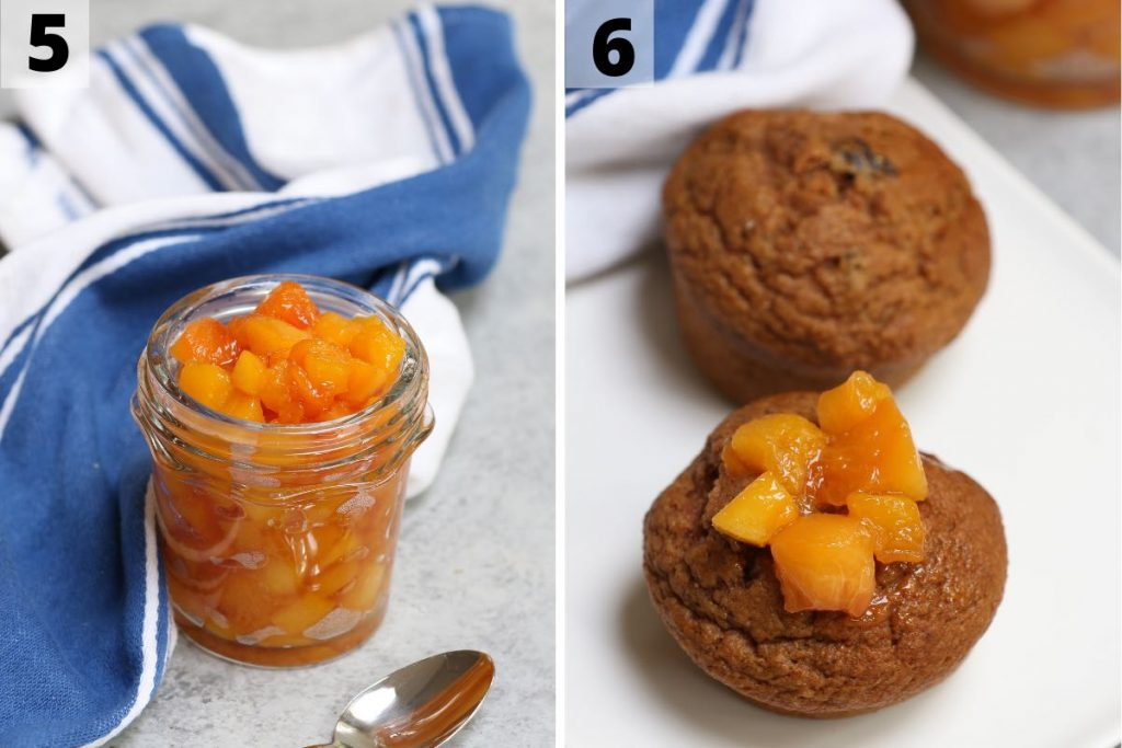 Peach compote recipe: step 5 and 6 photos.